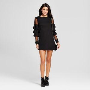 NWT tiered ruffle illusion sleeve dress